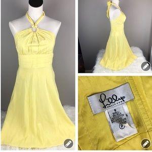Lilly Pulitzer yellow halter dress 944